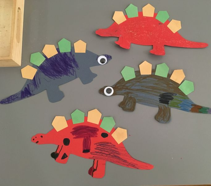 dinosaurs by hoboken art students