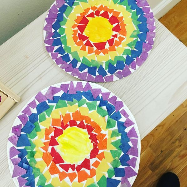 circular rainbows by art students in Hoboken