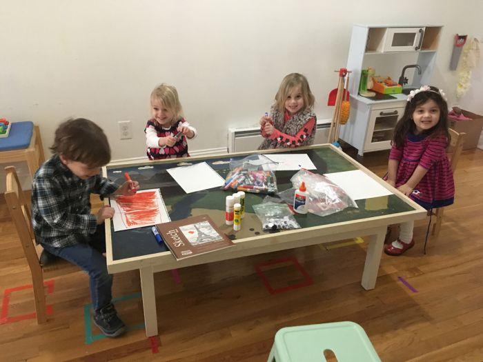 students having fun in Hoboken art class